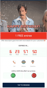 Birthday Club Mobile Coupon