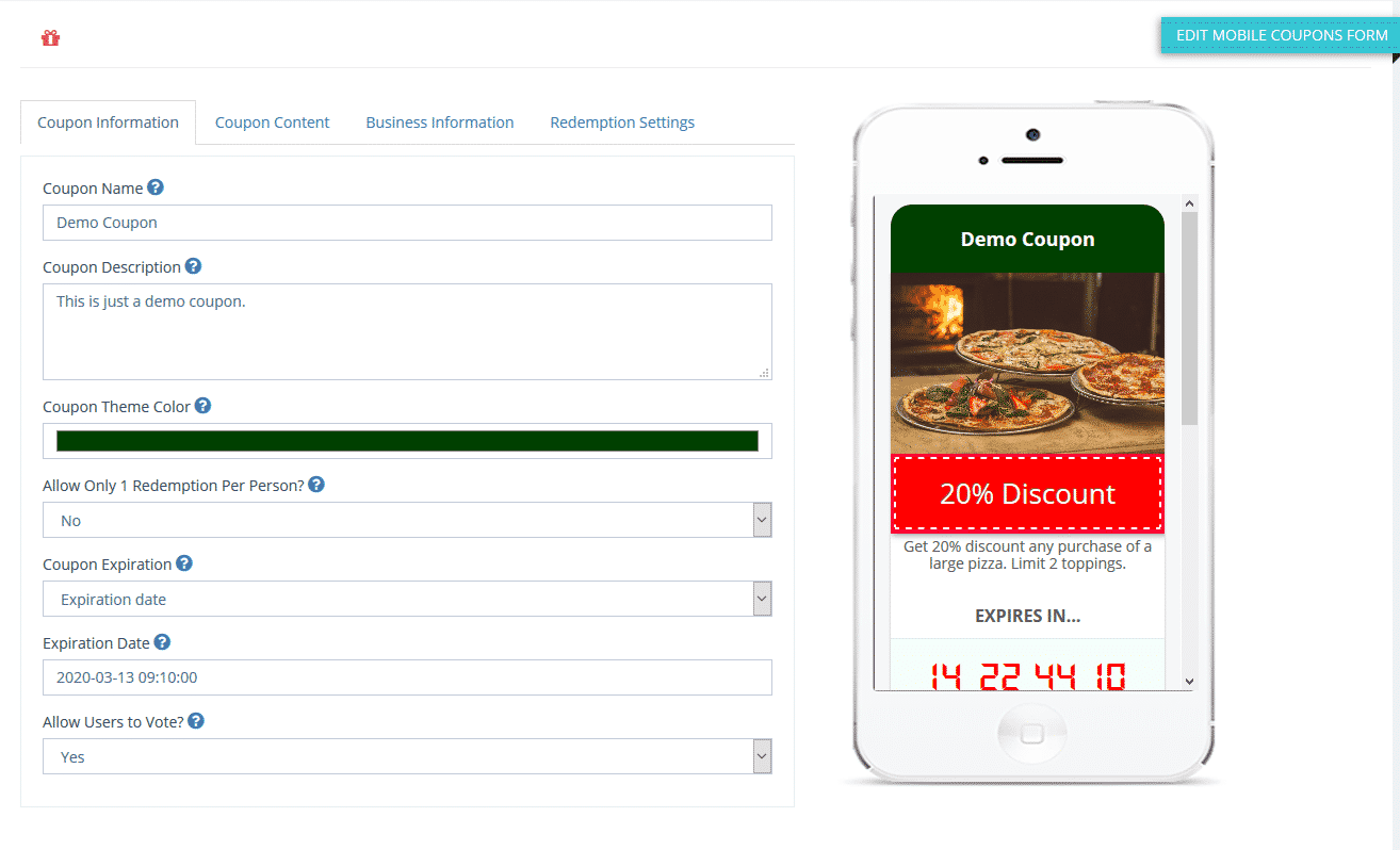 NEW: 10X Interactive Mobile Coupons